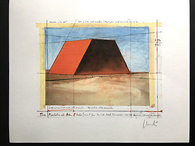 CHRISTO - THE MASTABA OF ABU DHABI - handsigniert, numeriert