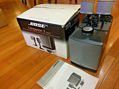 MINT Bose Companion 3 Series II Multimedia Computer Speaker System w Subwoofer