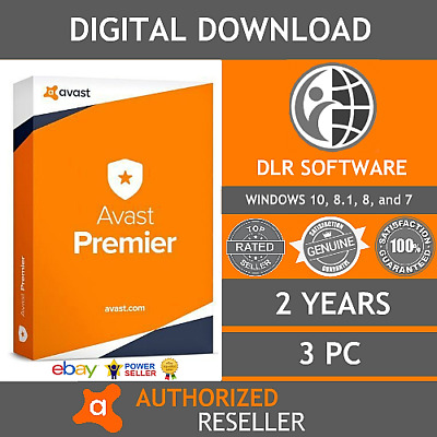 Avast Premier Antivirus & Internet Security 2018 | 2 Years | 3 PC | Download