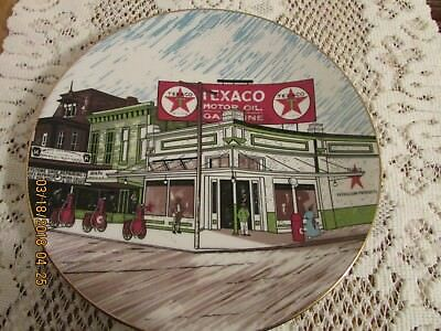 1992 limited ed. of 500 TEXACO gas station collector's plate