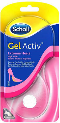 Scholl Gel Activ Extreme Heels High Heeled Shoe Insoles uk Size 3-7.5 New BNIP