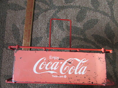 VENDOR Rare UNUSUAL 1950's? COCA COLA Trademark Metal Coca Cola carrier odd size