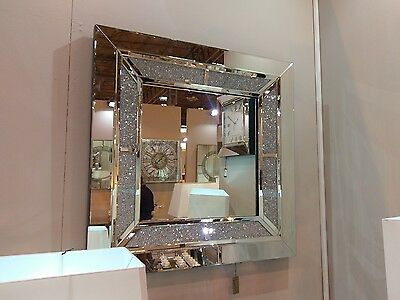 2054cecdc016c TUSCANY LARGE WALL Mirror Filled With Swarovski Crystals 90cm
