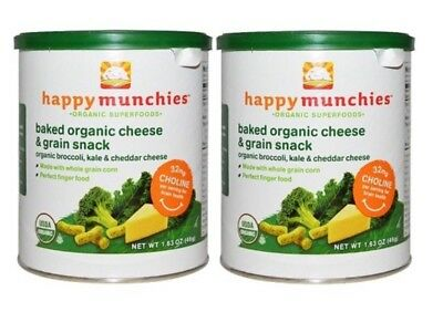 Happy Baby Happy Munchies Baked Organic Snack Cheese and Veggie - 2-1.63 oz Cans