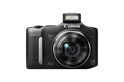 Canon PowerShot SX160 IS 16.0MP Digital Camera - Black