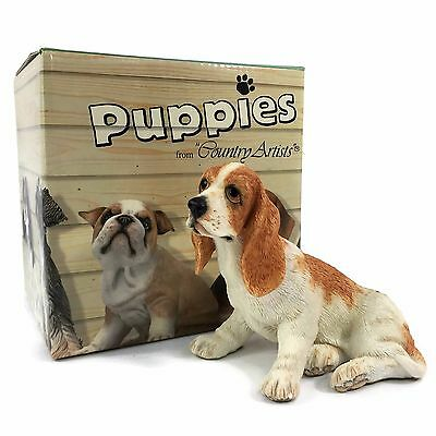 Puppies by COUNTRY ARTISTS 2002 Bassett Hound Puppy HAND PAINTED New in Box