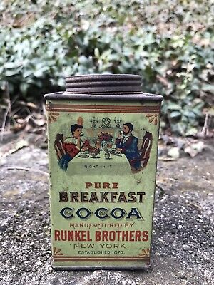 Runkel Brothers Cocoa Old Advertising Tin