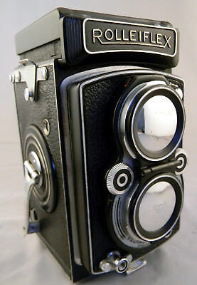 Rolleiflex Automat 6X6 K4/50 Xenar 3.5 w/ Case, Caps,  Hoods, and Filters. Nice