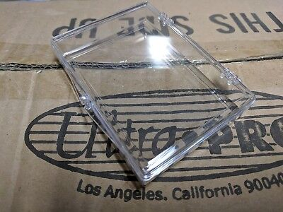 10 Ultra Pro 25 Count Clear Hinged Storage Card Cases Holder Sports Trading