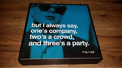 "Andy Warhol ""But I always say..."" Mini Art Block Frame NEW"