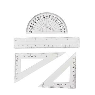 Students Maths Geometry Stationery Ruler Set Squares Triangle Ruler Protractor
