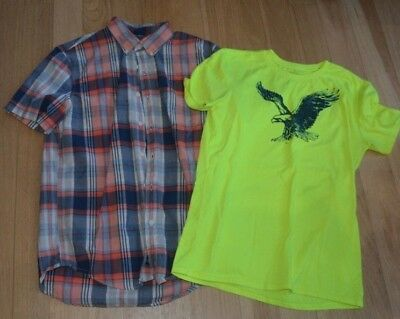 Lot of 2 EUC Spring/Summer Mens Size S American Eagle Outfitter Shirts