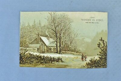 Antique ADVERTISING VICTORIAN TRADE CARD WHITE SEWING MACHINE RICHMOND ME #05069