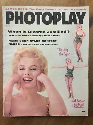 Photoplay Marilyn Monroe Gorgeous Cover And Pics 1956 Scarce High Grade Beauty!