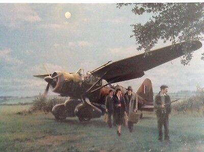 Robert Taylor THEY LANDED BY MOONLIGHT + SPECIAL DUTIES 2 Signed Aviation Prints