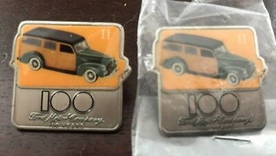 FORD Motor Company 100 Years Anniversary Lot of 2 Car Pin's Free Shipping