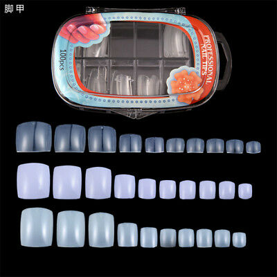 100PCS French Toe full cover False Nail Tips Acrylic UV Gel Nails Art Tips Tools