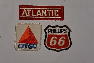 Lot Of Vintage Patches ~ Citgo, Atlantic, Phillips 66 Gas Station Oil