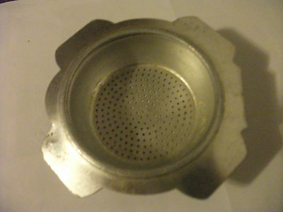 Vintage?aluminium Tea Straine? quite rough outer D 4'' inner dia 2 5/8