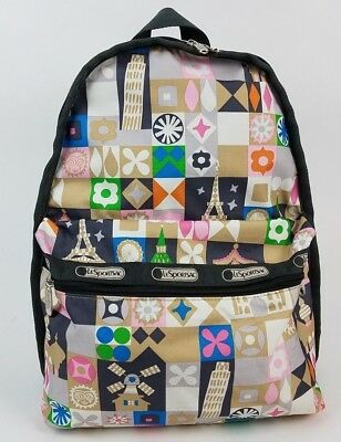 2d973c70d5e LeSportsac Its A Small World Disney Backpack Disneyland Global Journey Tan