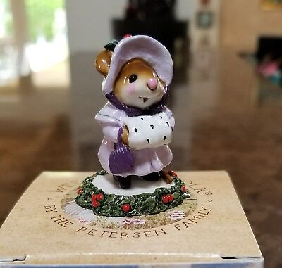 Wee Forest Folk M-146  Miss Noel MOUSE EXPO 03  Pearlized Lavendar/Holly  Mint