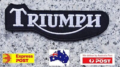 Triumph Biker Motorcycle Vest Embroidered Patches Applique Badge Iron Sew On