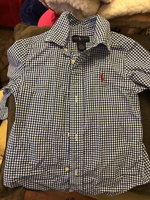Polo, Ralph Lauren Toddler Boys Size 2T Plaid Long Sleeve Flannel Shirt