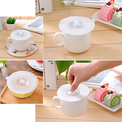 Transparent Silicone Anti-dust Glass Cup Cover Coffee Mug Suction Seal Lid Cap