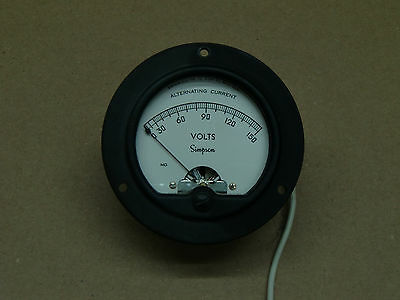 Simpson Electric Company Alternating Current VOLTS Meter Made In U.S.A. SK525626