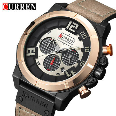 Curren Watches 2017 Men 'S Brand Luxury Military Quartz Chronograph Watch Waterp