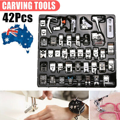 42pcs Domestic Sewing Machine Presser Foot Feet Set For Janome Brother Singer AU