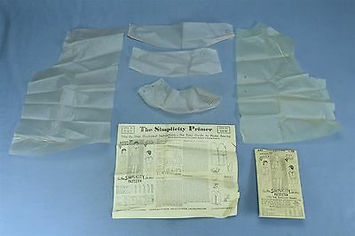 Antique 1920's SIMPLICITY SEWING PATTERN & PRIMER GIRLS BOLERO SUIT #445 #03924