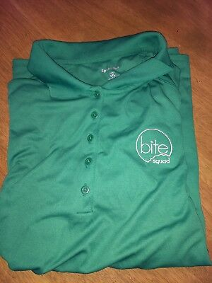 Green Bite Squad Delivery Restaurant Driver Polo Shirt 3XL Ladies
