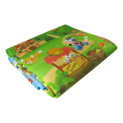 2*1.8M Waterproof Baby Crawl Play Mat Kids Foam Puzzle Game Blanket Picnic Rug