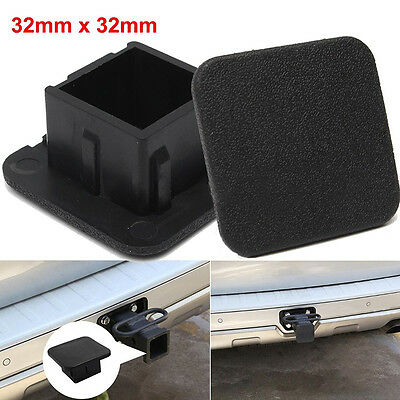 "Rubber Car Kittings 1-1/4"" Black Trailer Hitch Receiver Cover Cap Plug PARTS new"
