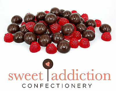 500g Dark Chocolate Covered Raspberries - Raspberry Party Choc AUSTRALIAN MADE