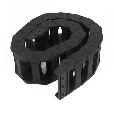 Machine Tool 25 x 77mm Black Cable Wire Carrier Drag Chain Nested X2D1