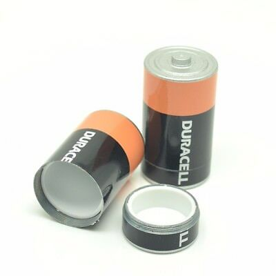 Pill Box Battery Style Diversion Safe Stash Secret Hidden Money Coins Container