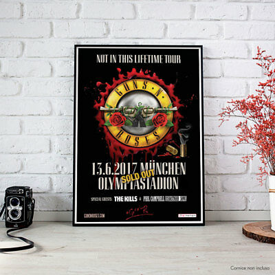 Guns N' Roses - München 13.6.2017 Not In This Lifetime Tour - Fine Art Poster HR