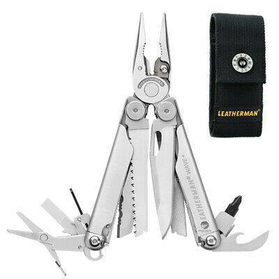 New Latest 2018 Leatherman Wave Plus + Stainless Steel Multitool + Sheath