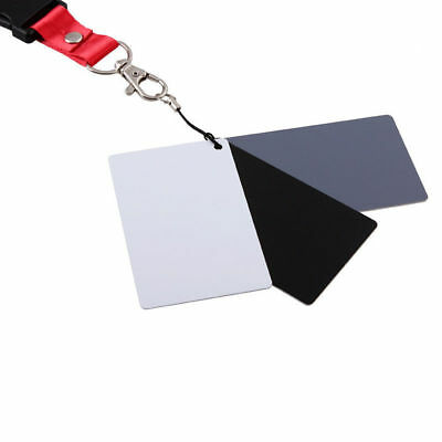 3 in 1 White Black 18% grey Balance Cards+Neck Strap for Digital Photography rm