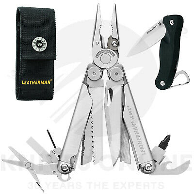 Latest 2018 Leatherman Wave Plus + Stainless Multitool + Sheath +  C33 Crater