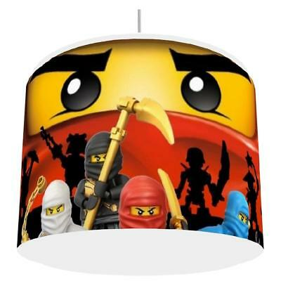 NINJAGO RED LIGHT SHADE KIDS ROOM matches duvet set  NEW