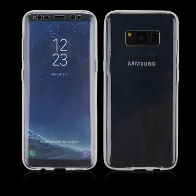 TPU Crystal clear 360°Soft Ultra thin Case Cover For Samsung Galaxy S8 S9 S9 +