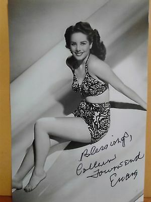 Colleen Townsend Authentic Hand Signed 4X6 Photo 1940s &1950s Famous Actress !