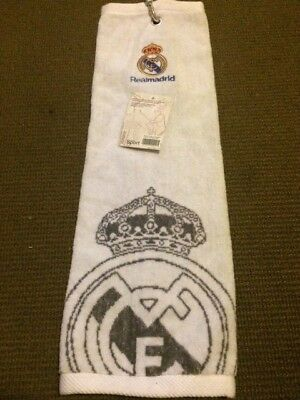 Real Madrid  Football Club  Tri Golf Towel 100% Official New