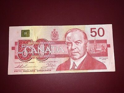 1988 50 Fifty Canada Dollar Good Condition