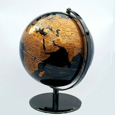 STUNNING World Globe Black and Copper/Gold Chrome Home Decor Wedding 30cm