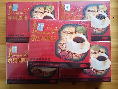 5 Boxes Original leisure 18 and Authentic slimming coffee free shipping