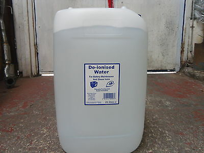 Deionised De-ionised Water 25Ltr 25 Litres